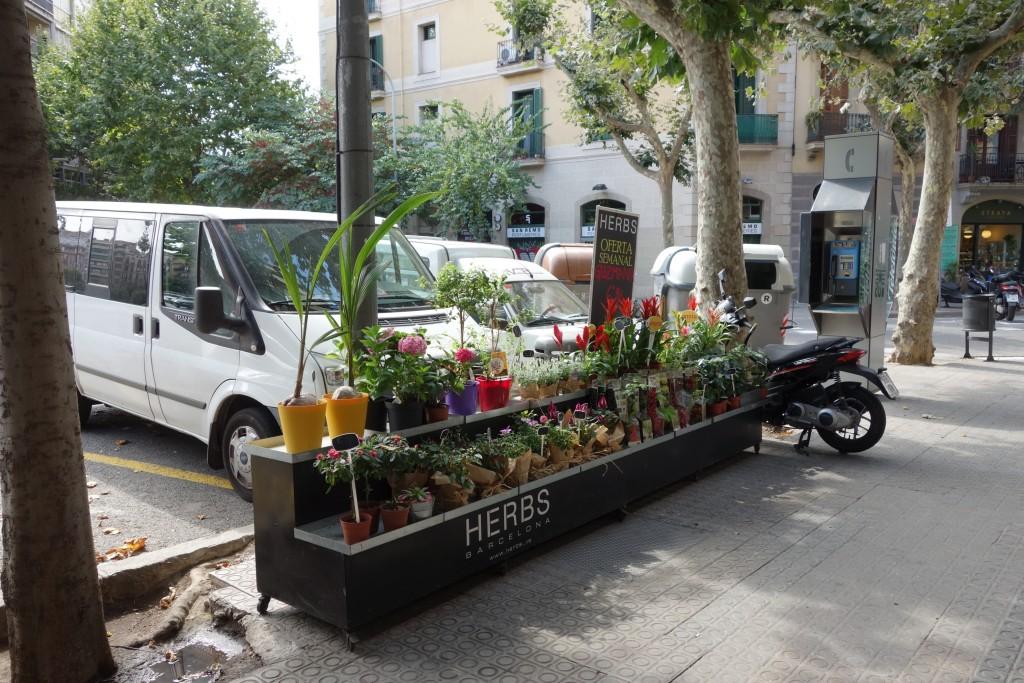 お花の路面販売