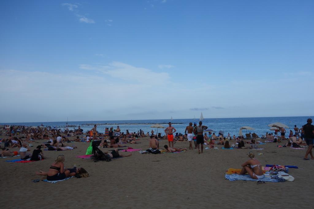 バルセロネータの人工ビーチ