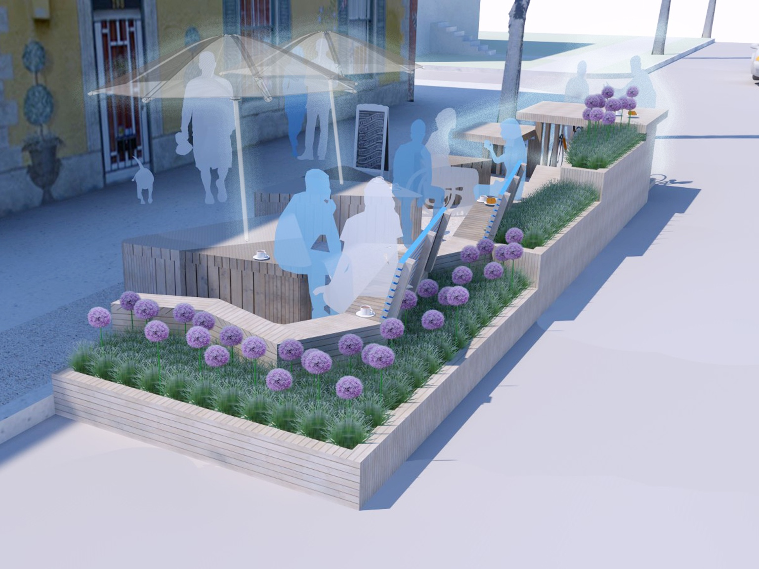 photo by /the-french-quarter-parklet https://www.kickstarter.com/projects/1703309847/the-french-quarter-parklet