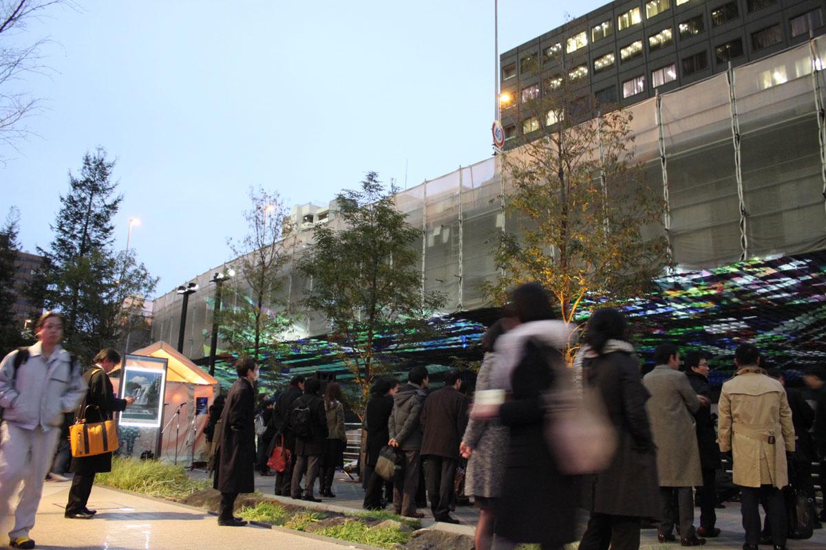 「水辺萌え」の遠藤さんが取材を担当した、日本橋川高架下のプロジェクションマッピング社会実験