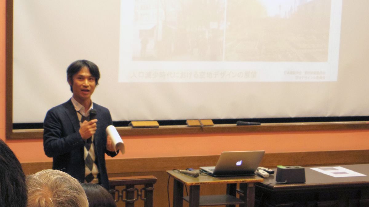 同委員会で主査を務める、工学院大学まちづくり学科准教授の遠藤新さん Photo by Ayano KUMAZAWA