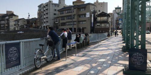 道路協力団体が橋上をカフェに!「犀川リバーカフェ」現地リポート