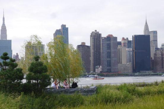 希少な湿地帯越しのスカイスクレイパー、NYC